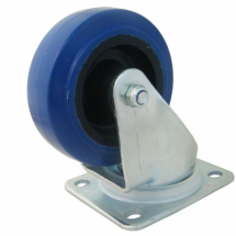 3inch Castor Blue Rubber/Nylon Swivel 80 x 60 Tube 90kg