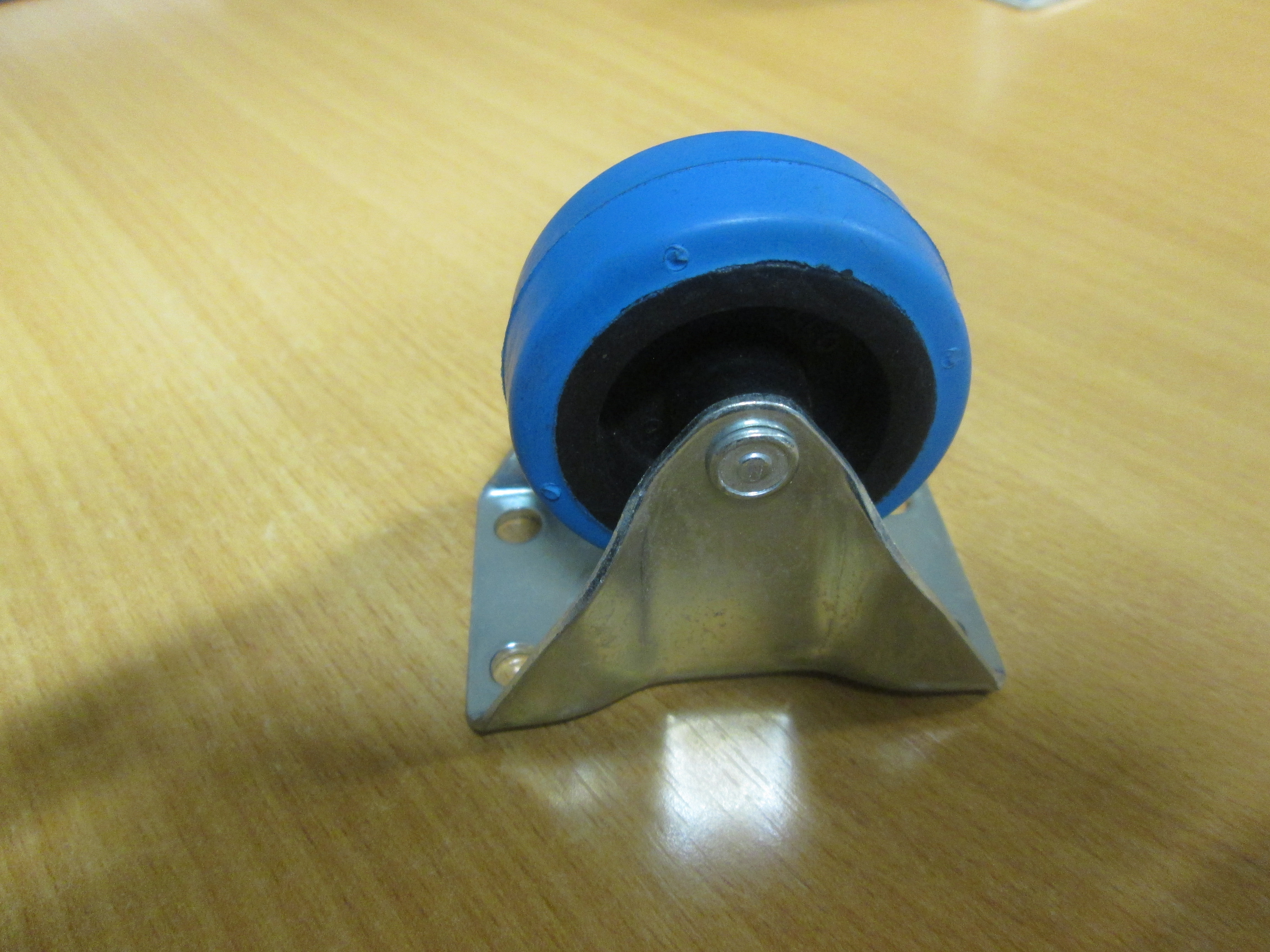 2inch Castor Blue Rubber/Nylon Fixed 54mm x 25mm takes 27kg