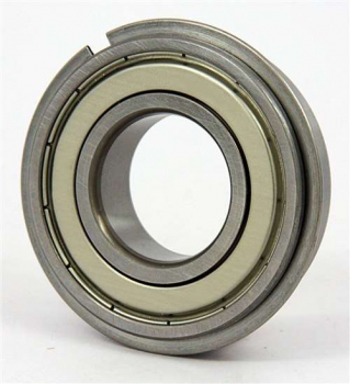 6200 - 6210 2ZNR Bearings with sheilds and snap ring and groove