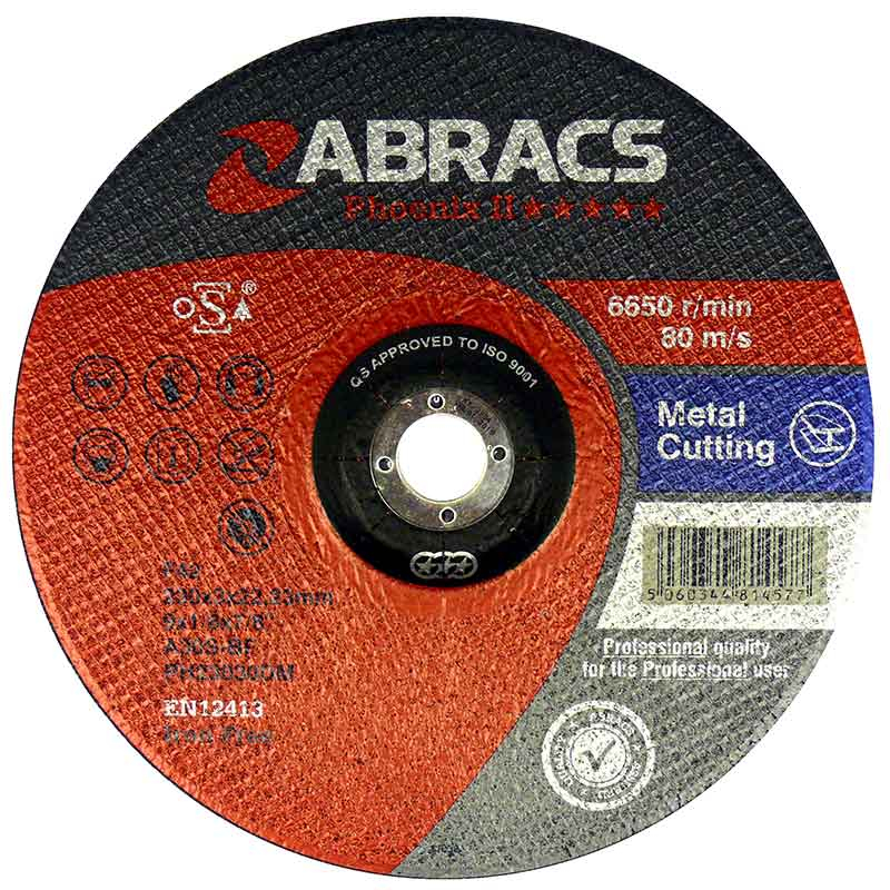 Phoenix 350 Flat Cutting Disc 350mm x 2.5mm x 25mm
