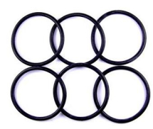 O Ring BS109 7.60mm Inside x 2.62mm VITON Packet of 6