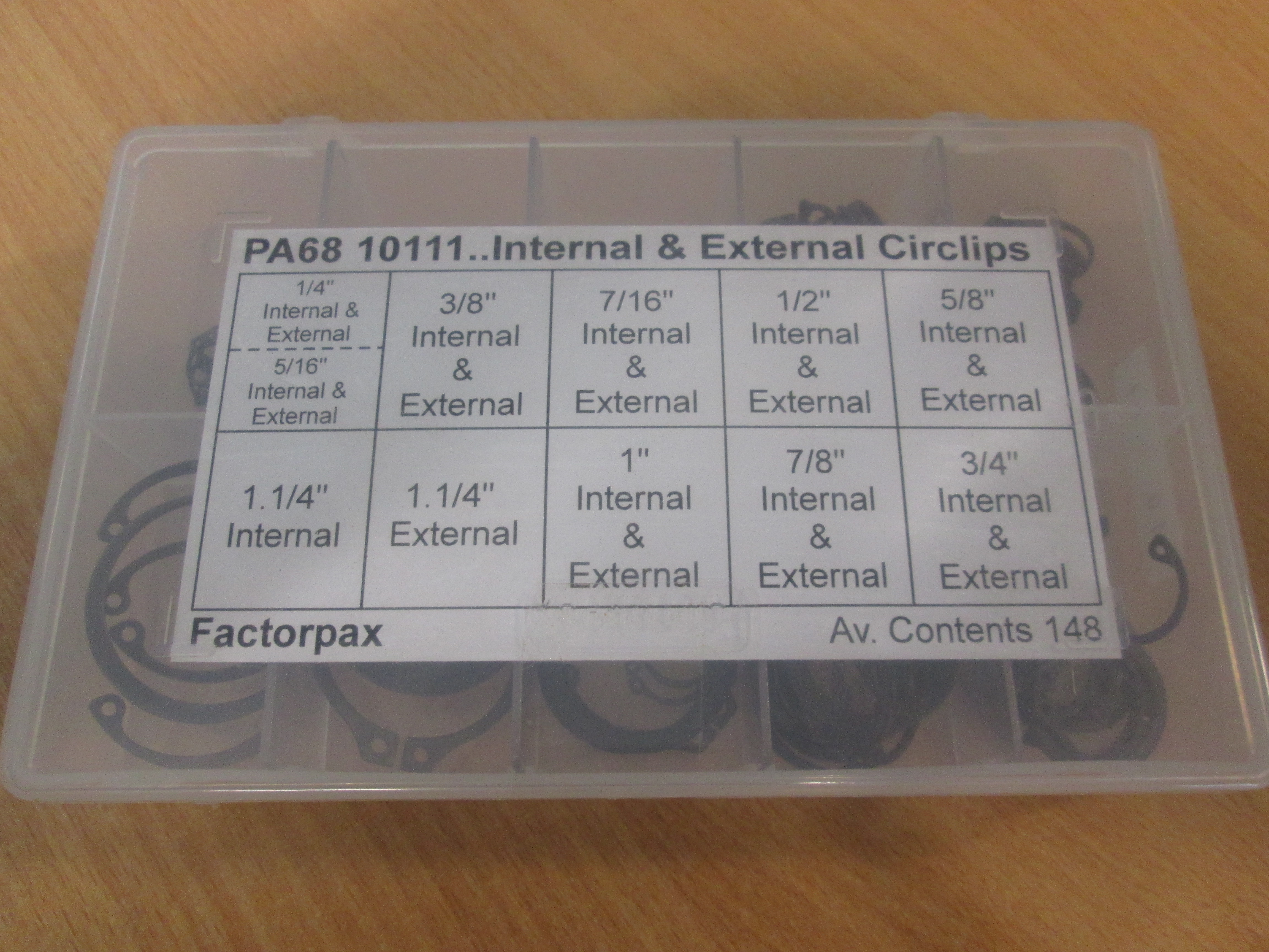 Internal and External Imperial Assorted Circlip Kit 10111
