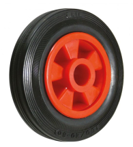 8inch Red Wheel Black Tyre 1inch Plain Bore