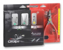 FACOM 4 Piece Circlip Plier Set Straight and Angled Tips