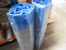 S400 INTRALOX 904mm Wide c/w 51mm FLTS Polyprop BLUE X 1.5M