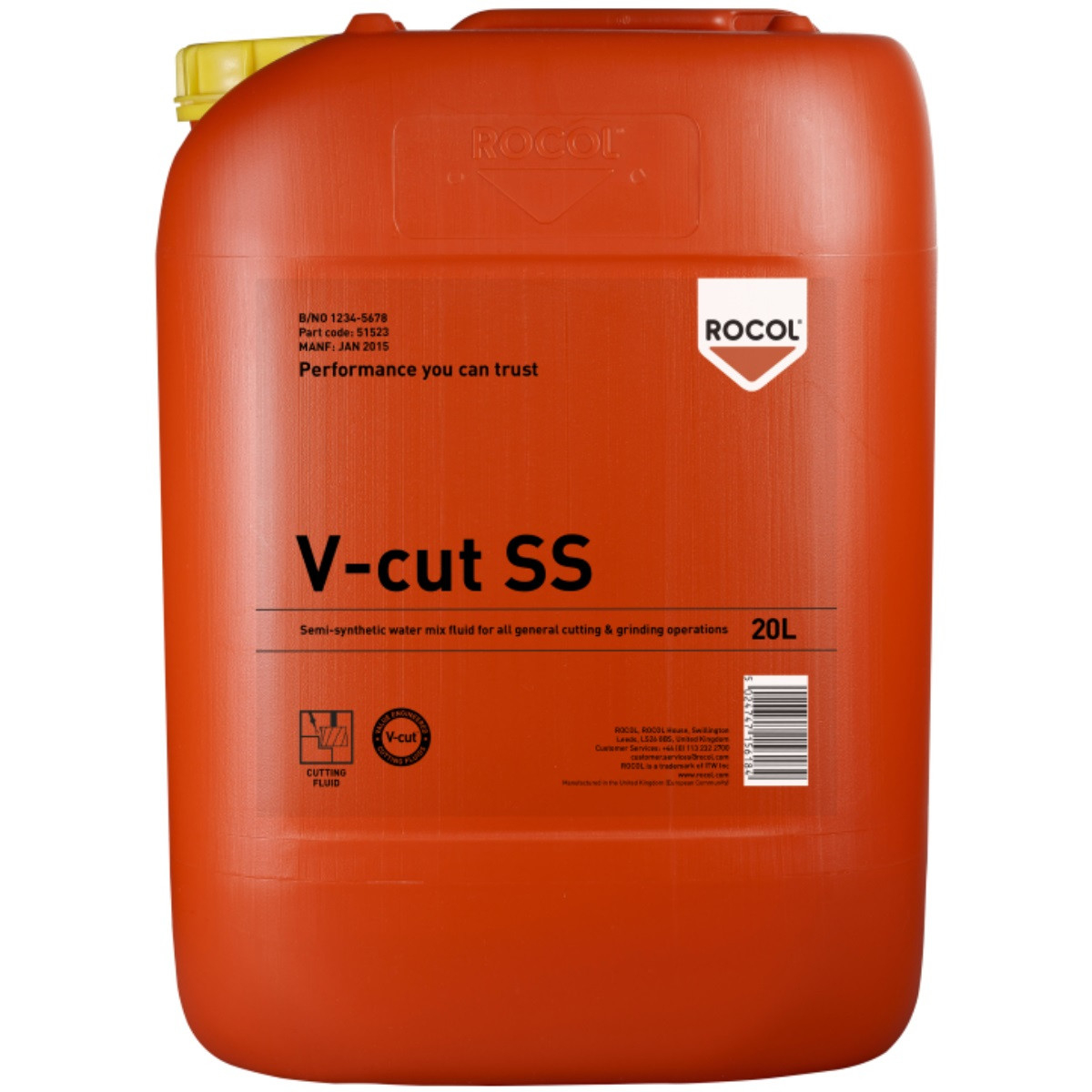 V-CUT SS Semi Synthetic Cutting Fluid 20 litre