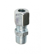 6mm OD x M6 X 1 Male Stud Straight Connector
