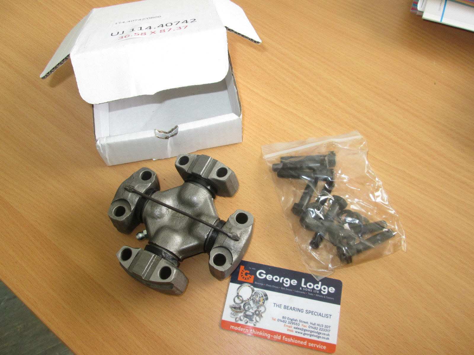 Universal Joint (Cross) 36.58 Cap Dia  X 87.37mm Span