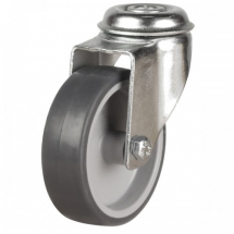 4inch Castor Grey Rubber/Poly M12 Bolt Hole 80kg