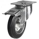 5inch Swivel Castor c/w Total Stop Brake 80x60mm plate 100kg