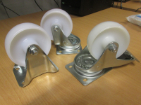 "5"" Diameter Wheel Castors/plate fixing"